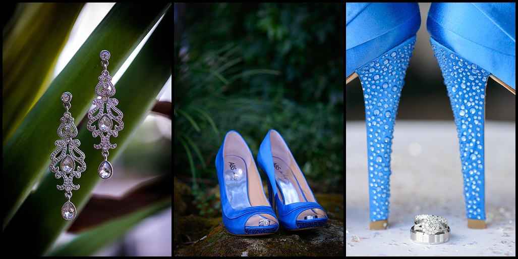 Blue High Heel Wedding Shoes | Tampa Wedding Photographer Castorina Photography