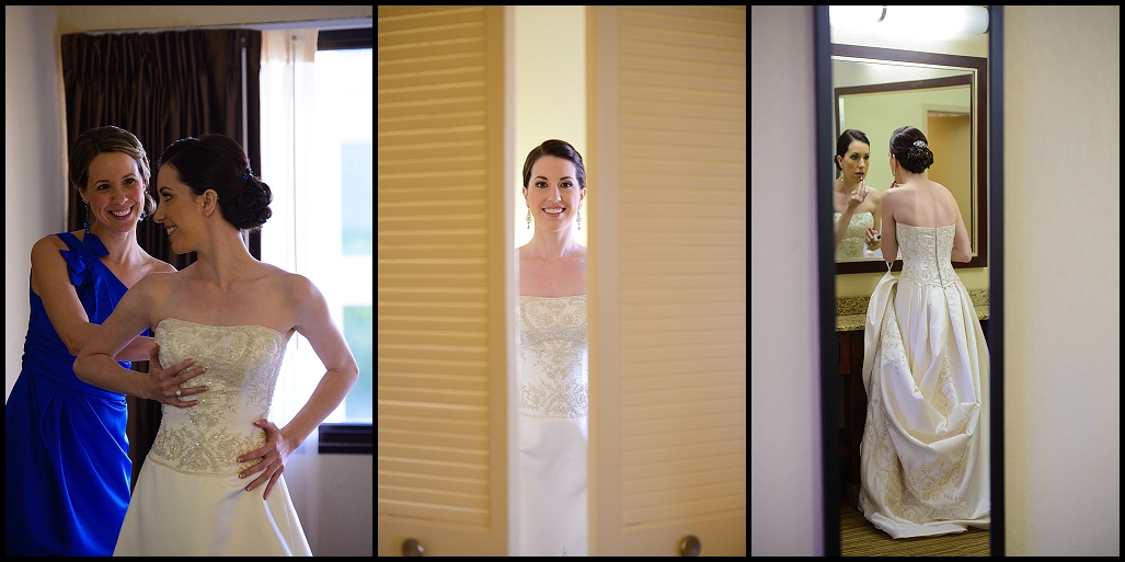 Bride Getting Ready on Wedding Day | DoubleTree Suites by Hilton Tampa Bay | Tampa Wedding Photographer Castorina Photography