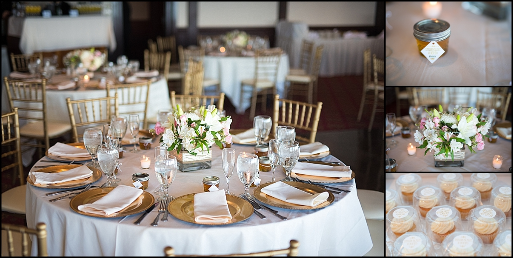 White And Gold Wedding Centerpieces Rusty Pelican Reception Tampa Photographer Castorina Photography