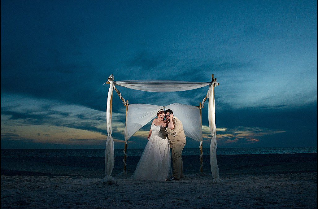 Ivory, Champagne, and Gold Treasure Island Beach Wedding | St. Pete Lions Club
