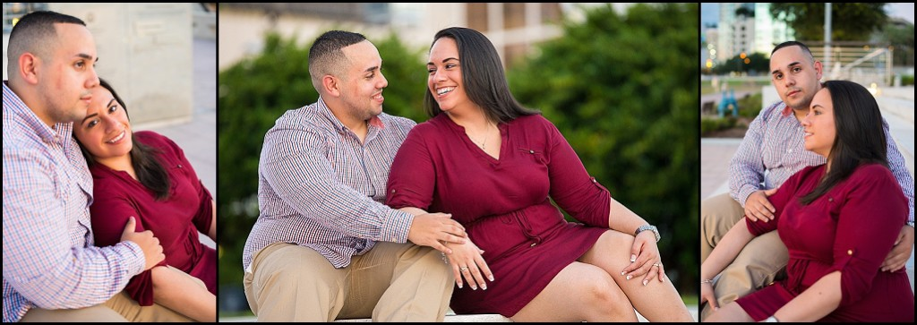 Downtown Tampa Engagement Photography at Curtis Hixon Park | Tampa Wedding Photographer Castorina Photography