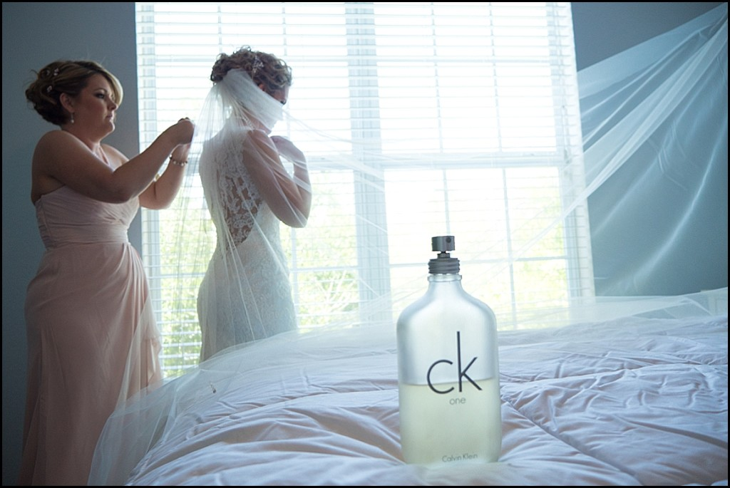Lace Wedding Dress, Bride Getting Ready on Wedding Day | St. Pete Wedding Photographer Castorina Photography & Films