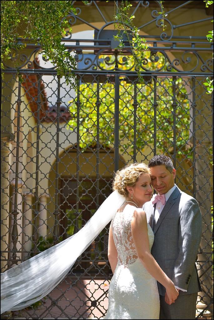 St. Petersburg Bride and Groom Wedding Portrait | St. Pete Wedding Photographer Castorina Photography & Films