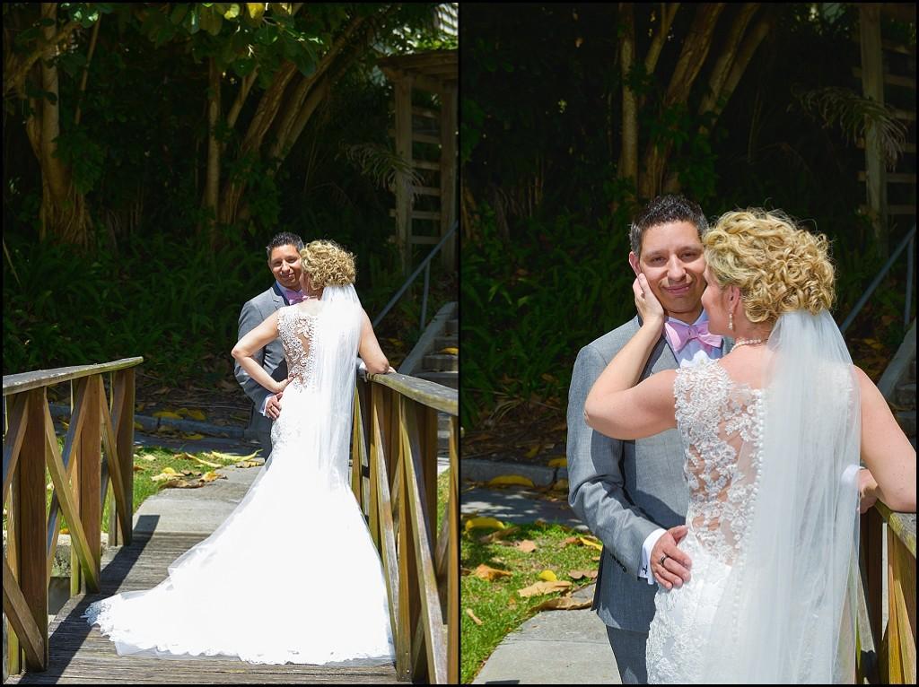 St. Petersburg Bride and Groom Wedding Portrait   St. Pete Wedding Photographer Castorina Photography & Films