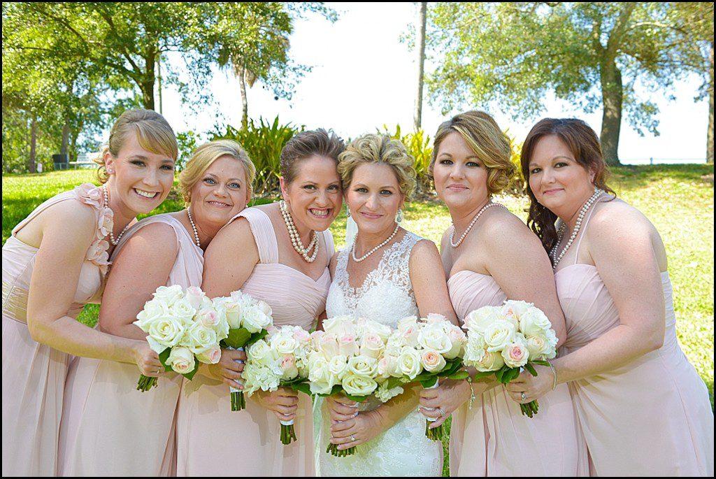Bridal Party Pink Bridesmaid Dresses   St. Pete Wedding Photographer Castorina Photography & Films
