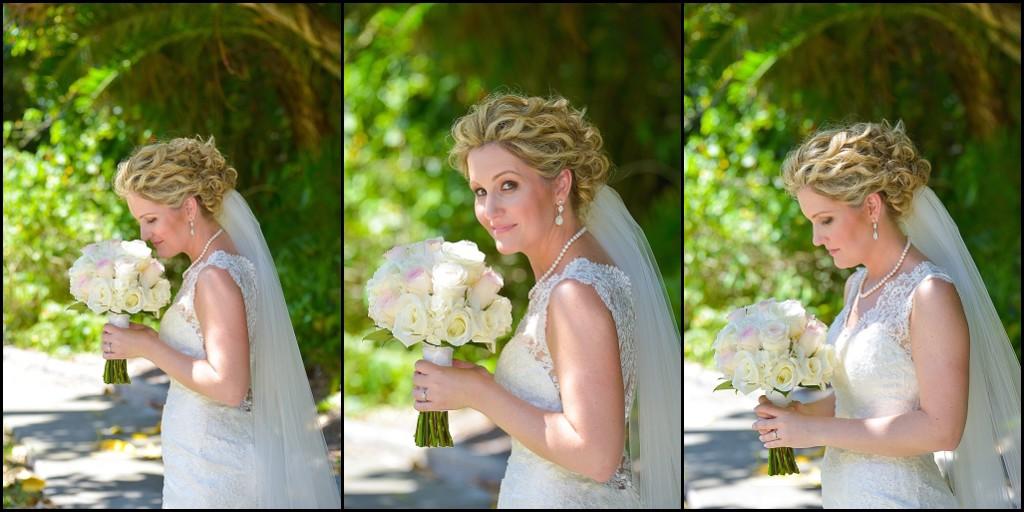 St. Petersburg Bride Wedding Portrait with White and Pink Pastel Bouquet   St. Pete Wedding Photographer Castorina Photography & Films
