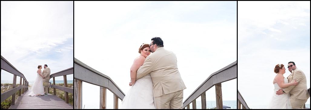 Bride And Groom St Pete Beach Wedding Portraits On Boardwalk Petersburg