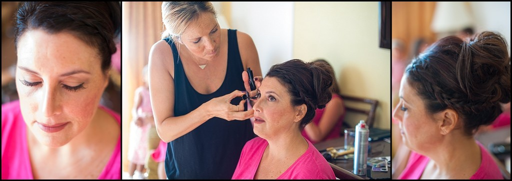 St. Pete Beach Bride Getting Ready, Hair and Make Up | St. Petersburg Wedding Photographer Castorina Photography and Films