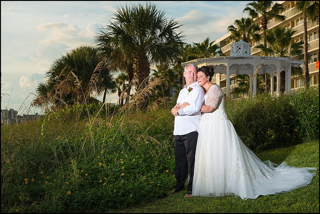 St. Pete Beach Bride and Groom Outdoor Wedding Portrait | St. Petersburg Wedding Photographer Castorina Photography and Films