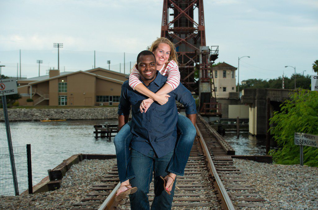 Waterfront, Downtown Tampa Engagement Session | Curtis Hixon Park