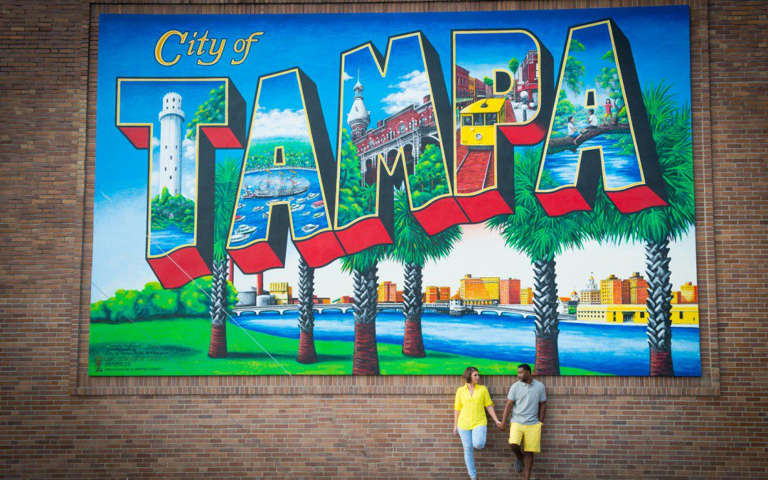 Tampa Riverwalk Engagement Session