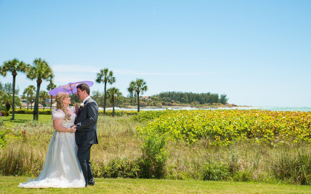 Purple, Gold, and Silver Sarasota Wedding | Long Boat Key Club & Resort