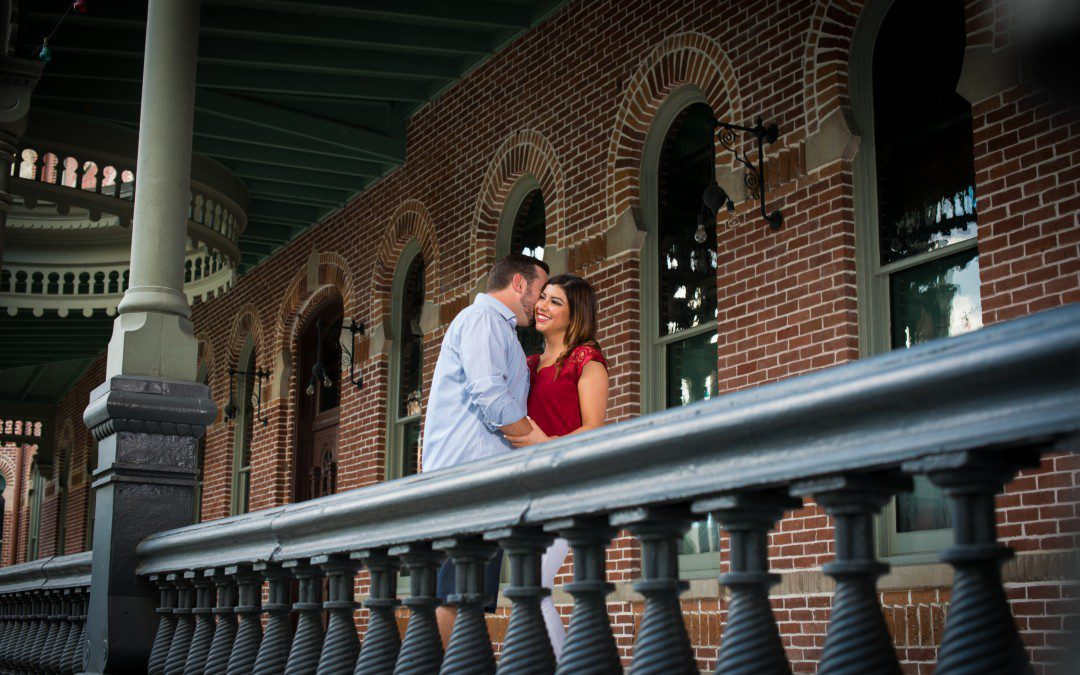 Fun and Light-hearted Engagement Session | University of Tampa, Florida