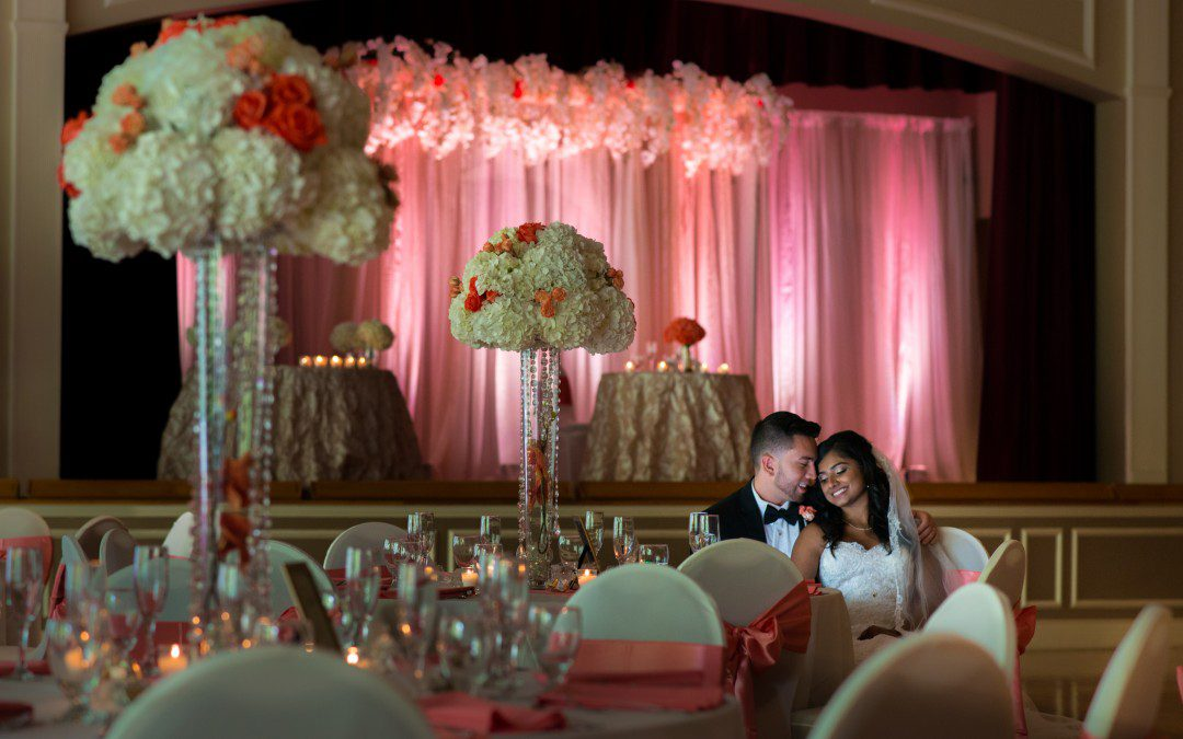 Coral & White Indian-Colombian Tampa Wedding | Sacred Heart Catholic Church Part 2