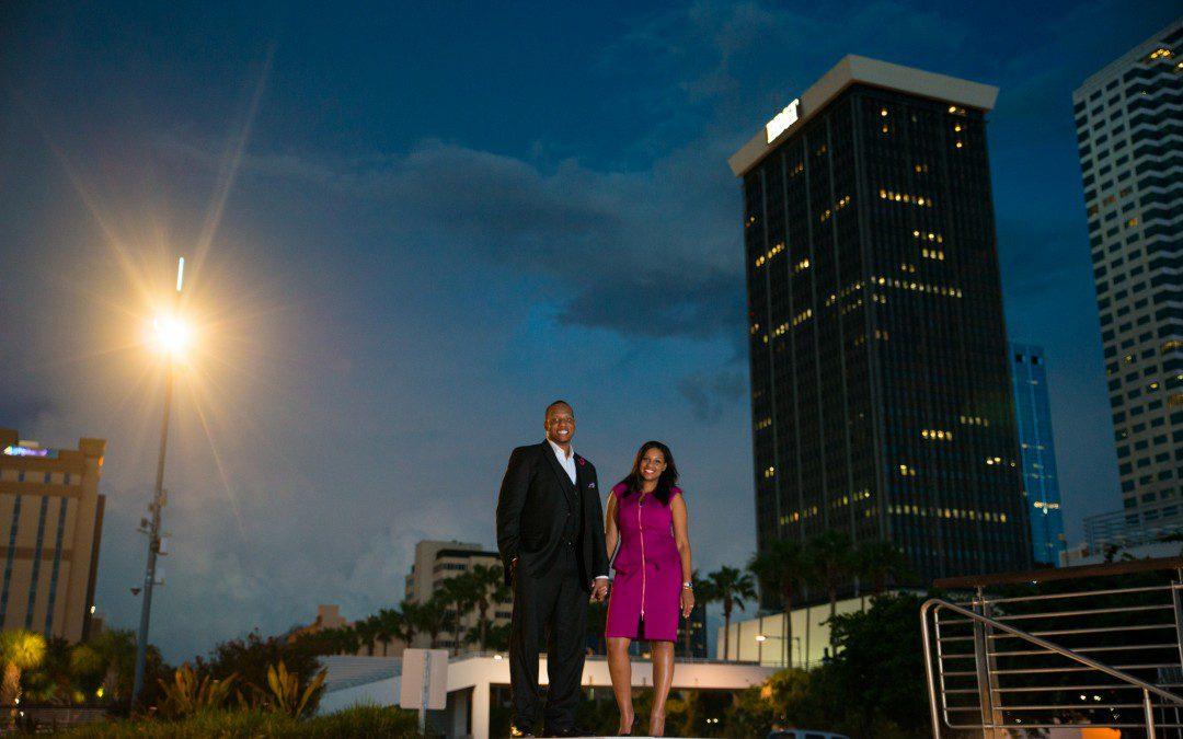 Riverwalk, Downtown Tampa Engagement Session | Curtis Hixon Park