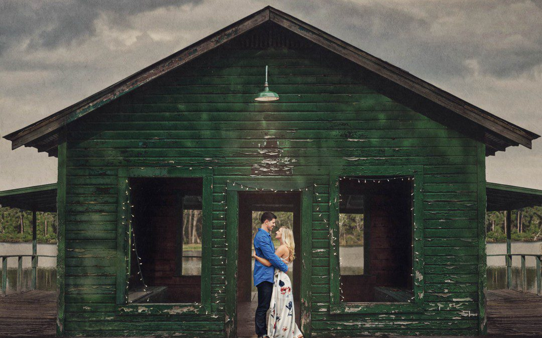 Downhome Fun Engagement Session | The Barn at Crescent Lake