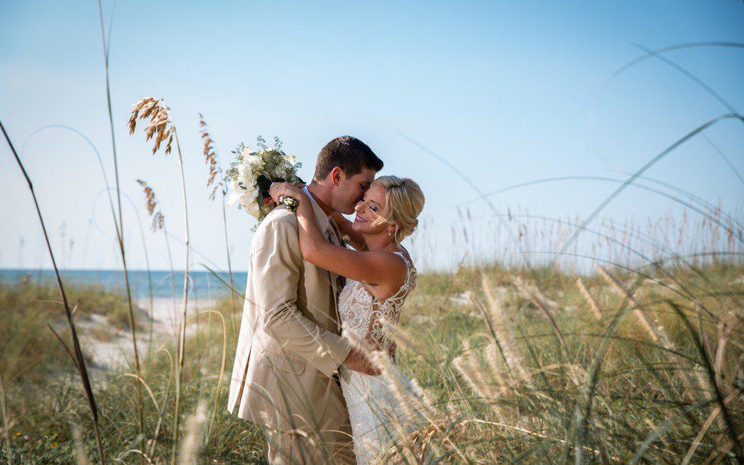 Teal & Tan Relaxed Beach Wedding | Clearwater Beach Wedding